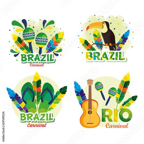 rio carnival brazilian card Canvas Print