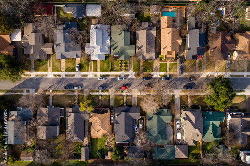 Birds Eye view of Mistletoe Heights in Fort Worth Wallpaper Mural