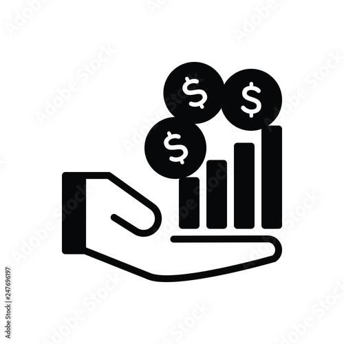 Fotografía  Black solid icon for revenue income