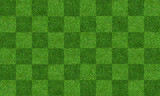 Fototapeta Sport - Green grass field background for soccer and football sports. Green lawn pattern and texture background. Close-up.
