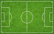 Leinwanddruck Bild - Football field or soccer field for background. Green lawn court for create game.