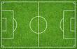 Leinwandbild Motiv Football field or soccer field for background. Green lawn court for create game.