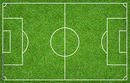 Canvas Prints Culture Football field or soccer field for background. Green lawn court for create game.