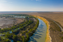 Aerial View Of Murray River In...