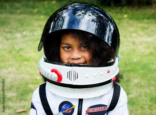 Little girl dressed up for Halloween Fototapeta