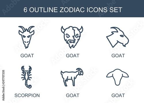 Fototapeta zodiac icons