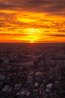 Beautiful Sunset and view of London Cityscape from the Shard Building