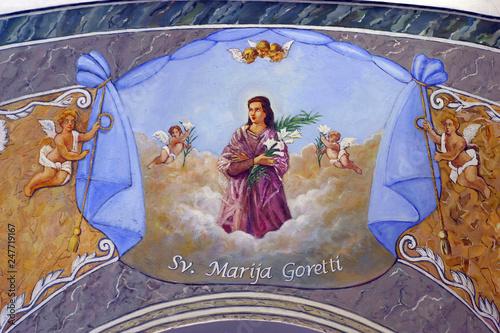 Saint Maria Goretti Canvas Print
