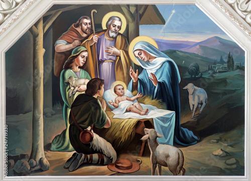 Fotografiet  Nativity Scene