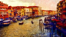 Romantic Scenery Of Venice, It...