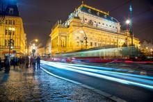 Prague With City Traffic, Europe