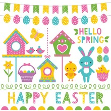 Spring And Easter Design Eleme...