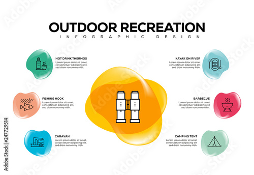 фотографія  OUTDOOR RECREATION INFOGRAPHIC CONCEPT