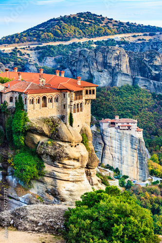 Monasteries in Meteora, Greece Fototapeta
