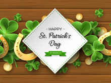 St. Patricks Day Greeting Holiday Design.