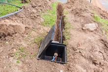 Fibre Optic Cable Internet Installation Earthworks