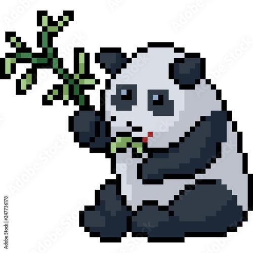 Vector Pixel Art Panda Buy This Stock Vector And Explore Similar