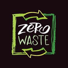 Zero Waste - Hand Drawn Doodle Ecology Green Life Set Label