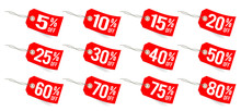 Red Tags From 5% Off To 80% Off