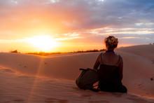 The Red Sand Dunes In Mui Ne, Vietnam Is Popular Travel Destination With Long Coastline