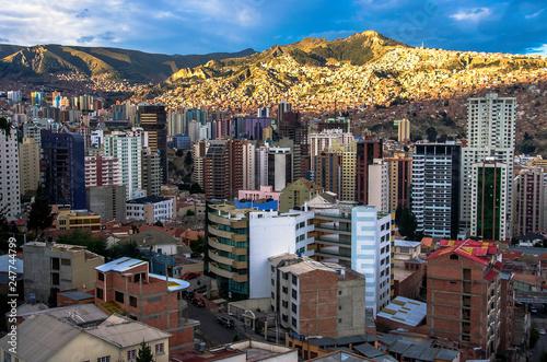 Aluminium Prints Sydney Cityscape of La Paz in Bolivia