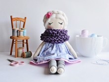 Handmade Rag Doll With White H...