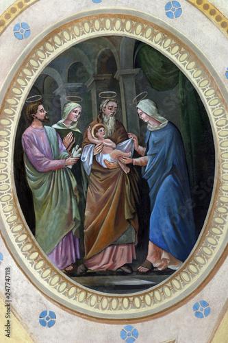 Vászonkép Presentation of Jesus at the Temple