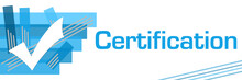 Certification Blue Stroked Stripes
