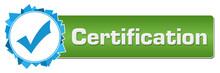 Certification Blue Green Random Shapes Circle Bar