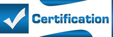 Certification Blue Square Horizontal
