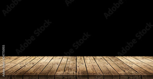 Old dark wooden planks background