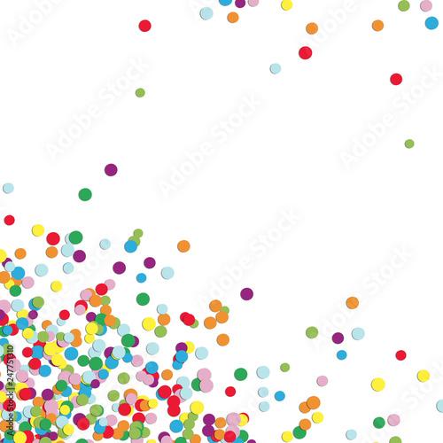 Fotografie, Obraz  background confetti bottom left corner