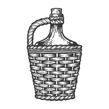 Wine Bottle Carboy With Basket...