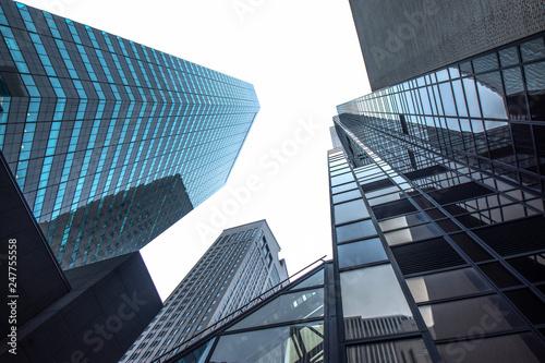 Fototapeten New York New york business center downtown skyscraper building view