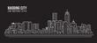 Cityscape Building Line art Vector Illustration design - Baoding city
