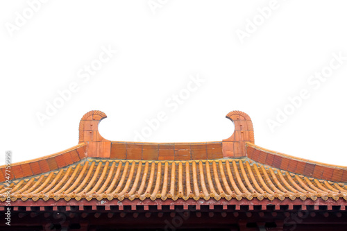 Fotografie, Obraz  traditional Chinese architectural style yellow glazed tile roof