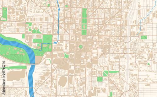 Indianapolis Indiana printable map excerpt – kaufen Sie se ... on