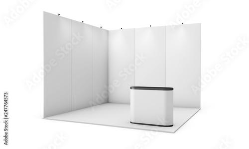 Obraz na plátně  exhibition booth