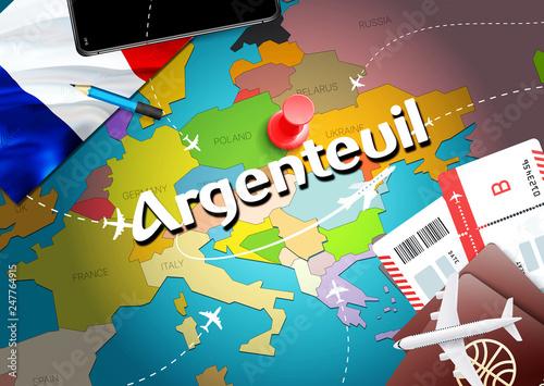 Argenteuil city travel and tourism destination concept Wallpaper Mural