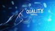 Leinwandbild Motiv Quality control, assurance, industry standards concept on virtual screen.