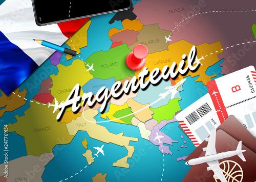 Photo Argenteuil city travel and tourism destination concept