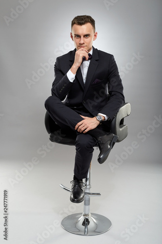 Fotografie, Obraz  Young man in business suit