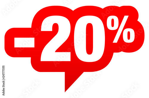 Photo  Sprechblase Sale -20% Rot