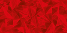 Abstract Red Background, Glass Crystals Texture, Many Triangles Wallpaper, Vector Design
