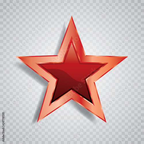 red red star Fototapet