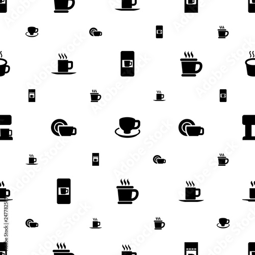 Photo  caffeine icons pattern seamless white background