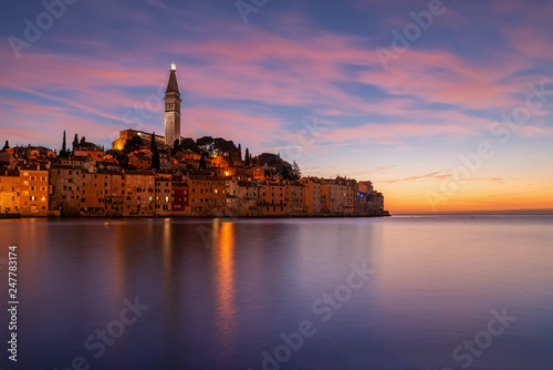 Poster de jardin Europe Méditérranéenne Rovinj is a city in Croatia situated on the north Adriatic Sea Located on the western coast of the Istrian peninsula,