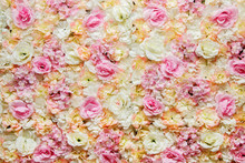 Floral Background. Wall Of Sil...