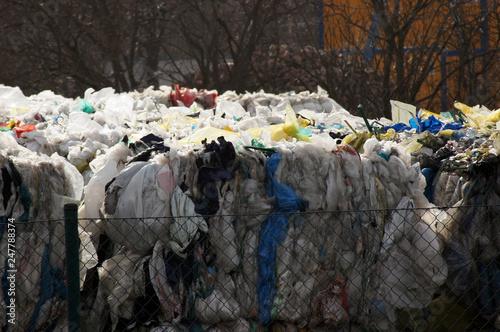 Fototapety, obrazy: Recyclinghof Müllverwertung Anlage Betrieb