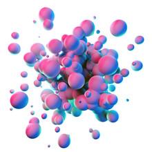 Colorful Splash Shapes Isolate...